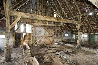 Bent (structural) - Image: Interieur schaapskooi, overzicht kapgebint Geesteren 20412010 RCE