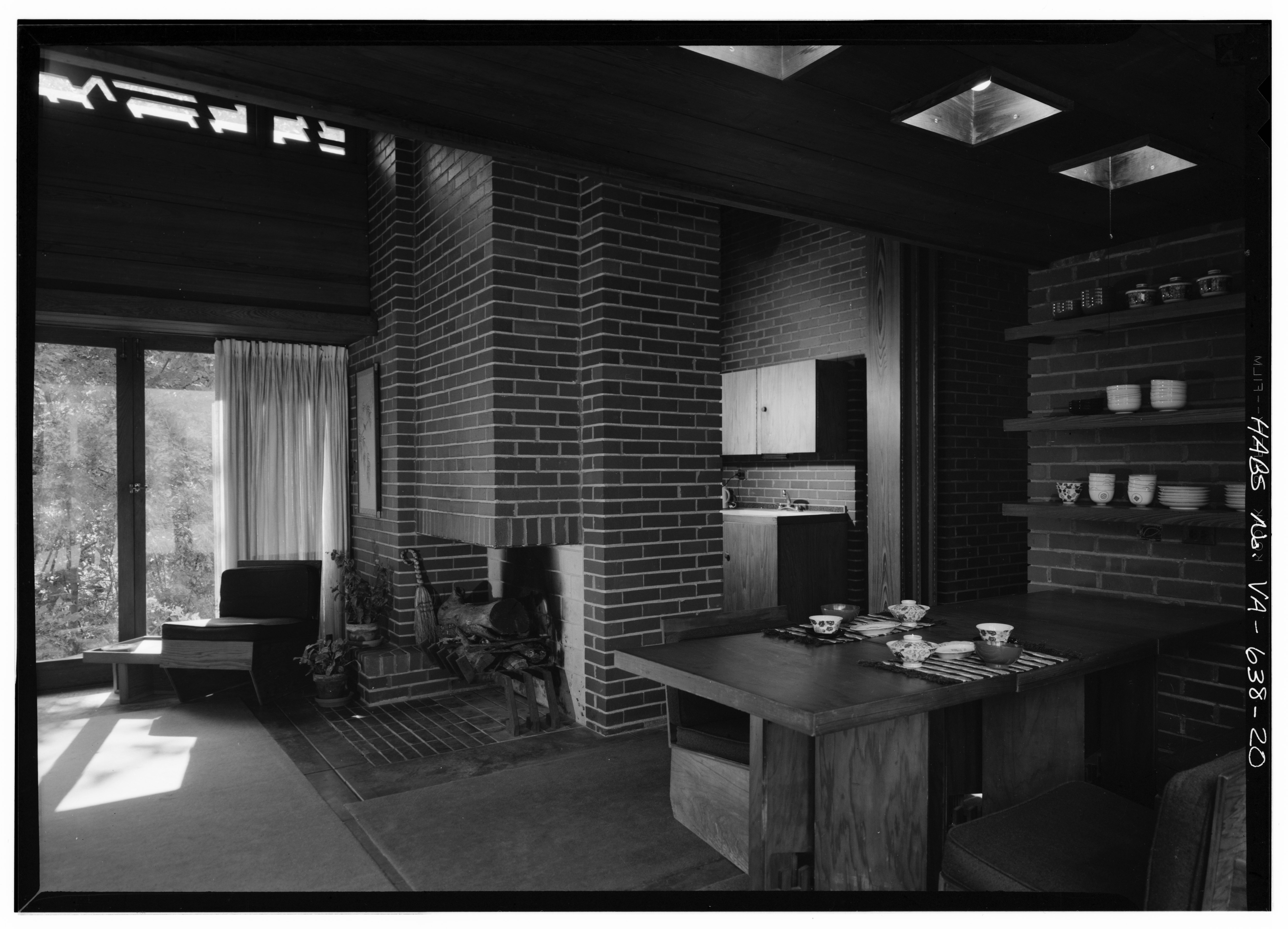 Frank Lloyd Wright Prints File Interior General View Looking South Showing