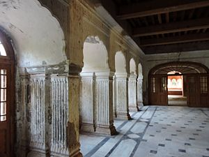 Interior designing of summer palace of Ranjit Singh, the founder Sikh Empire, Amritsar.jpg