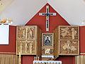 Interior of Saint Michael Archangel church in Puszcza Mariańska (brick church) - 02.jpg