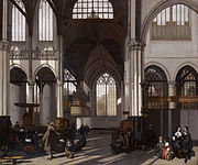 Interior of the Oude kerk in Amsterdam (south nave), by Emanuel de Witte