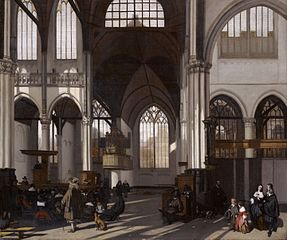 Interior of the Oude Kerk in Amsterdam