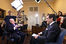 Wallace interviews Maryland governor Larry Hogan in 2015