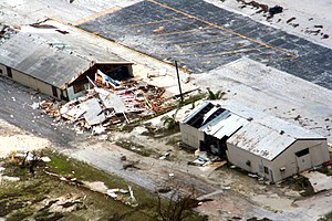 Hurricane Ioke - Damage on Wake Island after Ioke