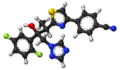 Isavuconazole ball-and-stick model.png
