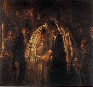 Jewish views on marriage - A Jewish wedding (Jozef Israëls, 1903)