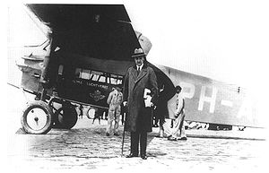 Ivar Kreuger - Ivar Kreuger ready for take-off for a business trip in Europe with an early passenger plane.