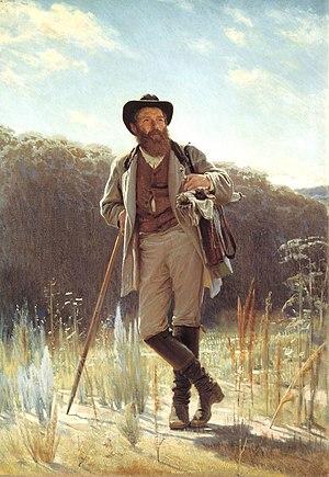 Ivan Shishkin -  Portrait of Shishkin by Ivan Kramskoi, 1873