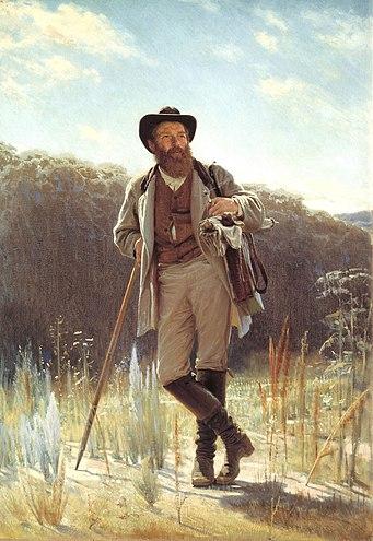 Иван Крамской. Портрет И.И.Шишкина. (1873, Третьяковская галерея)