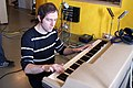Jérôme Danthinne on Wurlitzer 206A, Marc Morgan album recording, LowSwing studio, Berlin, 2011-01-22 13 56 43.jpg