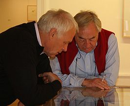 Jürgen Partenheimer (links) en Cees Nooteboom, Bad Homburg in 2005