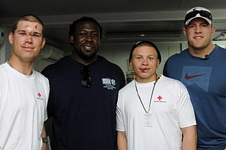 J. J. Watt - Image: JJ Watt Davin Joseph Warrior Recovery Center March 2013 (cropped)