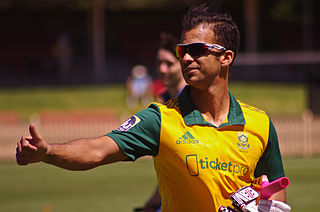JP Duminy South African sports-person