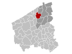 Jabbeke - Image: Jabbeke Locatie