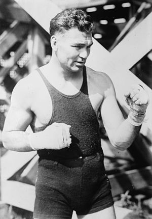Battling Levinsky - Jack Dempsey, future heavyweight champion