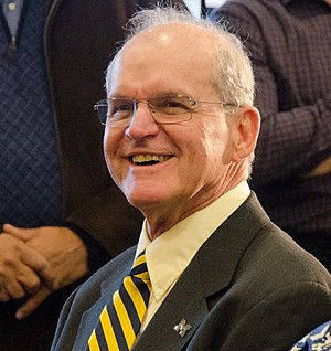 Jack Harbaugh - Jack Harbaugh attends the 2015 press conference introducing son Jim Harbaugh as Michigan head coach.