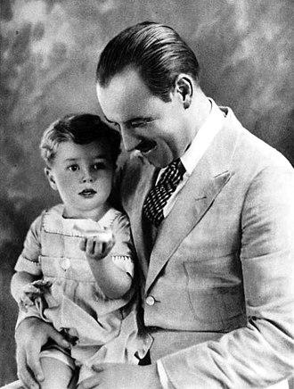 Tim Holt - Tim Holt and his father, actor Jack Holt (1921)