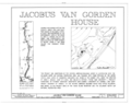 Jacobus Van Gorden House, U.S. Route 209, Egypt Mills, Pike County, PA HABS PA,52-EGYMI.V,2- (sheet 1 of 3).png