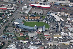 Aerial view of AMI Stadium, December 2005