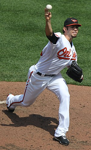 Jake Arrieta - Arrieta pitching for the Orioles in 2011