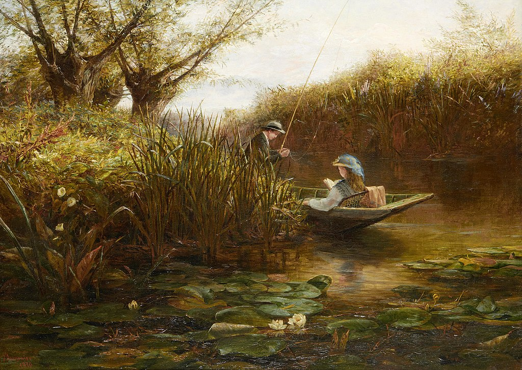 James Aumonier Where the Water Lilies Grow.jpg