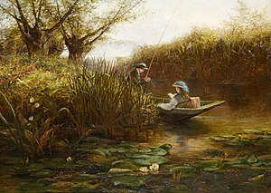 James Aumonier - Where the Water Lilies Grow, James Aumonier
