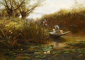 James Aumonier - Where the Water Lilies Grow, James Aumonier