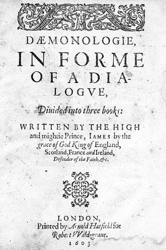 Macbeth - Title page of a 1603 reprinting of Daemonologie