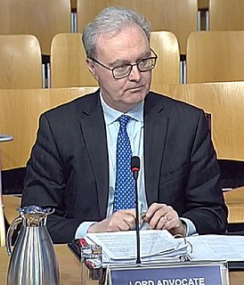 Lord Advocate chief legal officer of the Scottish Government