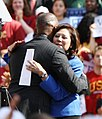 Jamie Foxx hugs Hilda Solis (5122898030).jpg
