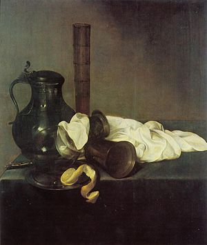 Jan den Uyl - Still Life (1637) 82 x 69 cm, oil on wood