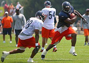 Jason McKie - Jason McKie evades Danieal Manning at the Chicago Bears 2007 Training Camp