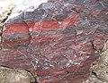 Jaspilite (Soudan Iron-Formation, Neoarchean, ~2.69 Ga; Soudan Mine, Soudan, Minnesota, USA) 5 (18843546468).jpg