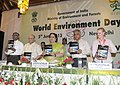 "Jayanthi Natarajan releasing the book ""Costal Zones of India"", at the World Environment Day function on the theme ""Think, Eat, Save Reduce Your Foodprint"", in New Delhi. The Member, Planning Commission, Dr. K. Kasturirangan.jpg"