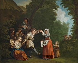 Rural dance with pipers