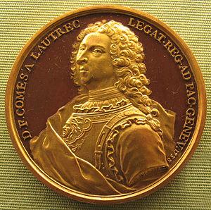 Jean Dassier - Medallion depicting Daniel François de Gélas de Lautrec by Jean Dassier, 1738