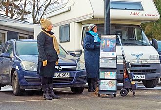 Jehovah's Witnesses practices - Jehovah's Witnesses cart witnessing in Tuuri, Finland.