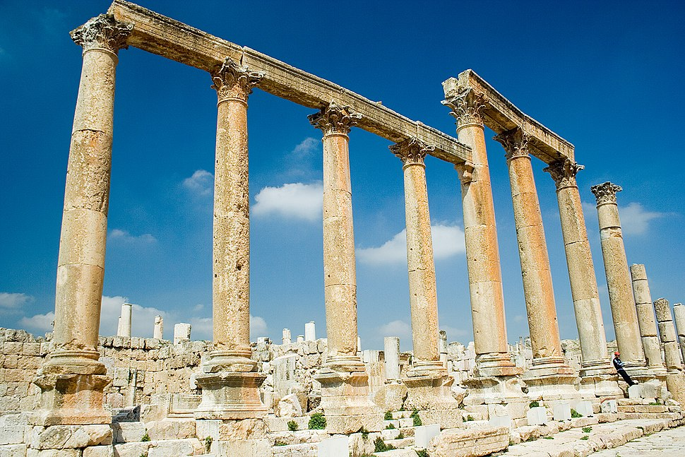 Jerash Collonade Street Columns