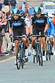 Jeremy Hunt and Bernhard Eisel, 2012 Tour of Britain.jpg