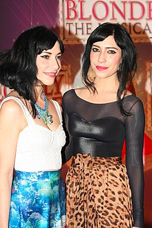 Jess Origliasso, Lisa Origliasso at Legally Blond The Musical, Sydney, 4 October 2012.jpg