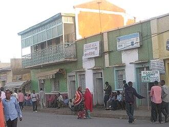 Jijiga - Historic Fooq Dheere building in Jijiga.