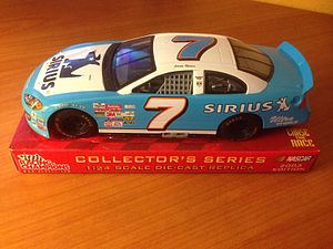 Johnny Lightning - A 1:24 scale model of a NASCAR racecar