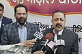 Jitendra Singh interacting with the media after visiting the Hunar Haat, in New Delhi.jpg
