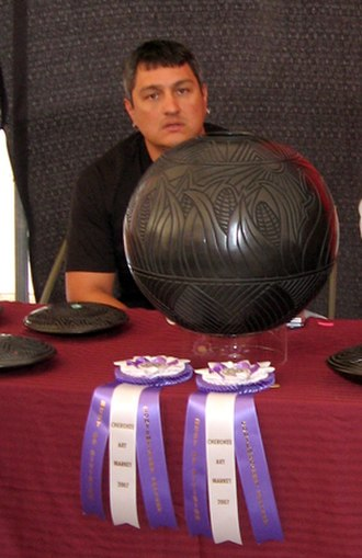 Eastern Band of Cherokee Indians - Joel Queen, award-winning Eastern Band sculptor and ceramic artist