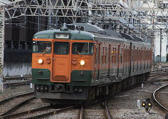 Jōetsu Line - Image: Joetsu Line Series 115 Arriving At Takasaki Station