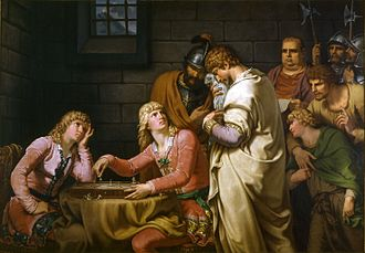 Frederick I, Margrave of Baden - Conradin and Frederick hearing their death sentence, history painting by J.H.W. Tischbein (1784)