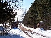 Entrance to Fountain Lake Farm near Portage, Wisconsin