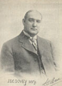 John Dovey pictured on a 1907 postcard.