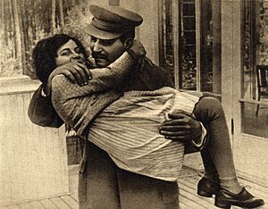 Svetlana Alliluyeva - Svetlana with father Joseph Stalin, 1935