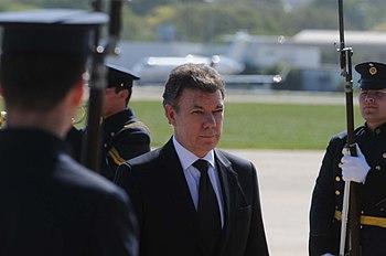 Juan Manuel Santos Llega a la Argentina